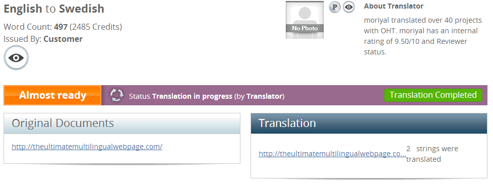 Translation Project Page